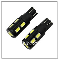20pcs/lot Samsung 10 SMD 5630 High power LED SMD T10 194 W5W W16W door lights license plate light White12V