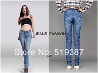 Trendsetters 2014 New Factory Outlet Denim Slim Skinny Womens Jeans Pants Pencil Fashion Style Cotton Trousers Free Shipping