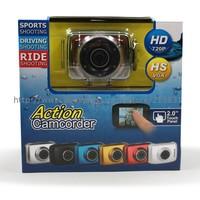 2014 new digital video camcorder bicycle camera dvr camara video waterproof camcorder 720p underwater 20m cameras car dvr hot