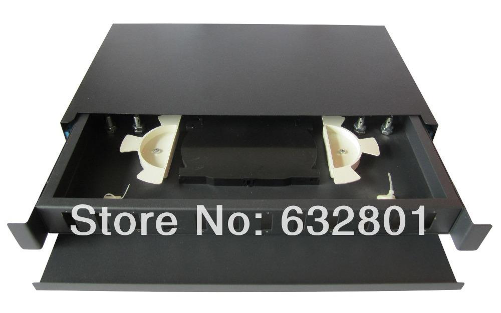 12pcs SC SM/MM Duplex sliding out patch panel, 24core fiber optic terminal box(China (Mainland))