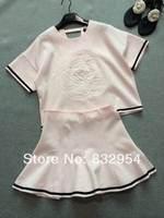 2014 new women cotton short-sleeve T-shirt embossed tutu skirt suit less than half
