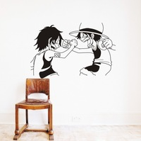 Free Shipping Wholesale and Retail One Piece Luffy Cartoon Wall Stickers Wall Decors Decal Wall Paper Home Decoration