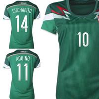 Top quality Mexico 2014 world cup home women CHICHARITO G.DOS SANTOS AQUINO ladies soccer jerseys football uniform