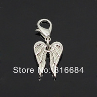 Free Shipping !! (5pcs/lot) 2014 New Designs Double Wings Origami Owl Dangles For Floating Lockets