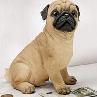 Birthday gift Resin piggy bank cartoon animal savings box dog Money Boxes free shipping