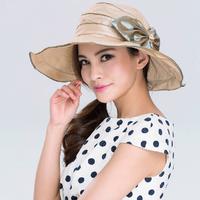 2014 new arrival Spring and summer sun hat anti-uv hat beach sunbonnet folding sun hat female