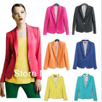 New 2014 Blazer Women Suits For Women Foldable Ladies Blazer Brand Jacket  Collares Candy Jacket Sping 2014 Women Jacket Suit