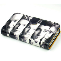 The Headshot of One Direction Leather Wallet Flip Stand Case For Iphone 5 5S