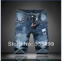 Free Shipping 2014 New Fashion High Quality Mens Jeans Short Brand DSQ Summer hole Jeans Shorts for men 9325