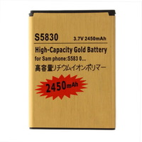 1pcs 2450mAh High-Capacity Gold Li-ion Business Battery for Samsung S5830 GALAXY Ace New Free Shipping