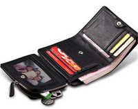 Men Wallets Cowhide Layer Leather & Holders with Coin Purse Card Id Bag Retail Men Brand Wallets
