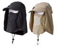 Wholesale Mens Sunblock Cap Neck Flap Men Sunscreen Camping Hat Summer UPF Protection Hiking Hats Womens Fishing & Hunting Caps