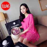 2014 summer milk silk lace plus size one-piece dress maternity one-piece dress