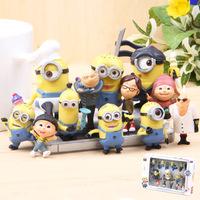 Despicable Me 2 movie vivid cute minion Gru + Margo + Edith + Agnes + minions pvc figures doll mini toy 12pcs/lot