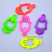 2cm*1.2cm colorful metal palm hand mix charm pendant for jewelry making