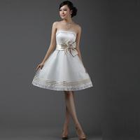 Princess bride bridesmaid dress marriage dress mid waist zipper formal dress dq273