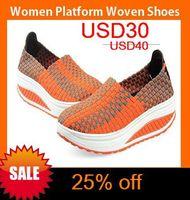 2014 New summer Women Platform Shoes women Woven His shoes women platform fashion beach shoes free shipping