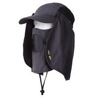 10pcs 2014Men UV Blocking Hats Neck Flaps Women Sunscreen Hunting Hat Ladies Sun Protective Headwear Hiking Cap Mens Camping Cap
