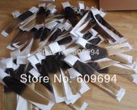 STOCK ! 18 20 inch OMBRE CLIP INS dip dye human Indian Remy hair 120g set  1BT22 1BT24 1BT27 1BT613 1BT33 1BT99J