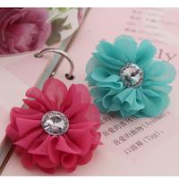 6pcs/lot Child hair accessory handmade fangzuan small flower corsage shoe flower decoration material