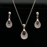 Quality austria crystal inlaying drop jewelry sets  elegant fashion  jewelry