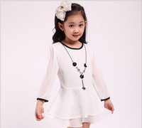 Hot Selling 2014 new arrival 1 PCS girls Children clothing Summer girls Lace Chiffon dress Soft & Healthy & Cool Free shipping