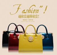 Free shipping 2014 spring new fashion glossy diamond grade portable shoulder bag handbags fashion women leather handbags