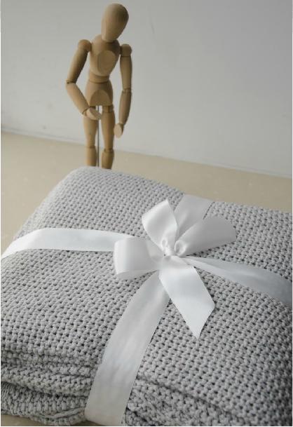 pur coton tricot couverture couverture de lit couverture canapé de bonne qualité lisse grande couverture