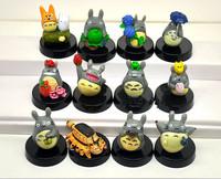 Japanese Cartoon Cute 12 pcs/set Anime MOVIE My Neighbor TOTORO Figures with base New Wholesale And Retail