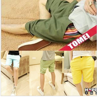 Men's clothing summer fashion male slim casual beach shorts male color block patchwork vintage flower shorts