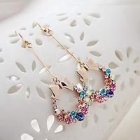 Special wholesale Korean fashion earrings new female butterfly Crystal Diamond earrings 10pcs/lots