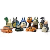 10pcs/set Japanese Cartoon Ha yao Anime Figure My Neighbor Totoro mini figurine Toy Figures