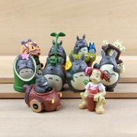 10pcs/set japanese movie cute totoro hayao miyazaki model doll unique toys for children pvc classic toys education learning