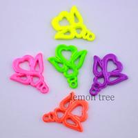 2cm*1.7cm neon color metal flower charms pendant diy jewelry
