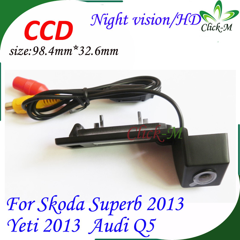 "HD CCD 1/3"" waterproof night vision 0.05lux camera back up For Skoda Superb 2013 Yeti 2013 Audi Q5 car rear view camera(China (Mainland))"