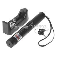 2in1 Military Green Laser Pointer Pen Light Beam High Power Adjustable Focus Safety Lock + Star Cap