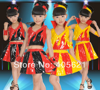 Girls Torch Hip-hop Jazz Dance Clothes Dress Children's Dancewear Performance Clothes Modern Ballet Latin Dance Stage Costume