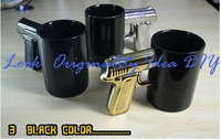 72pcs/lot  Free shipping New The most powerful Pistol Grip Cups Gun mug 400g