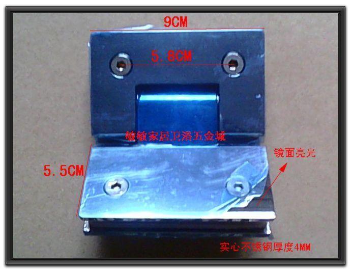 304 glass door hinge light solid stainless steel bathroom clip 135 hinge frameless door hinge(China (Mainland))