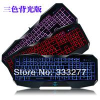 Luminous backlit keyboard tarantula wired usb keyboard gaming keyboard mouse pad lol