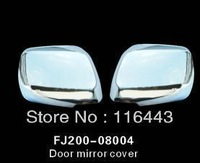 Free shipping ABS Chrome Car Rearview Side Door Mirrors Cover For Land Cruiser 200 FJ200 2008-2011