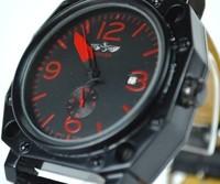 2014 Fashion Brand Winner Casual Black Leather Strap Man Automatic Mechanical Self Wind Skeleton Watch For Men Sport Wristwatch
