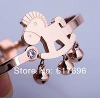 316L Titanium Steel Bracelets Bands Trojan Jingle Bells Bangles Brand New DropShipping