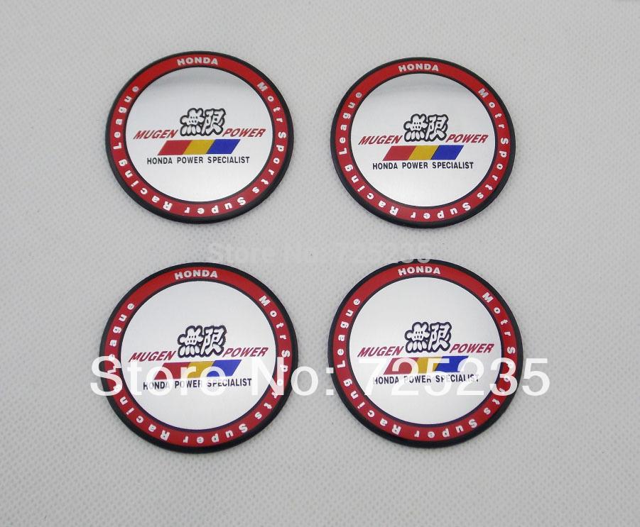Wholesale New One Set Of 4pcs 55mm CAR Tyre Wheel Center Hub Cap Sticker Emblem Badge Decal Fit HONDA MUGEN POWER 2(China (Mainland))