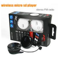 50pcs 360 Full sound Portable Wireless headphone stereo headband Headset Sport earphones micro sd Player with FM Radio free DHL