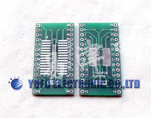 Free Shipping One Lot 10pcs SOP SOIC-28 TO DIP-28 Adapter PCB SMD Convert Double Sided(China (Mainland))