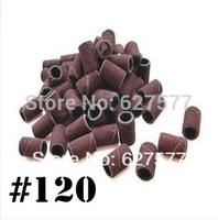 200pcs Sanding Bands Drills Bits #120 Nail Art  Machine UV Gel Acrylic Tips