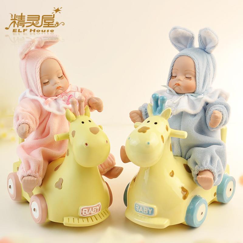 moda trojan bobble cabeça da boneca caixa de música caixa de presentes a música namorada bebê mel criança presente de aniversário(China (Mainland))