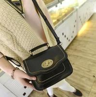 2014 women's handbag vintage fashion messenger bag oil waxing soft surface leather small bags one shoulder mini bag
