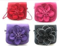 Free shipping  Hot salewomen's handbag Ladies coin purse Flower Cross-body Handbag with shoulder strap17*15CM